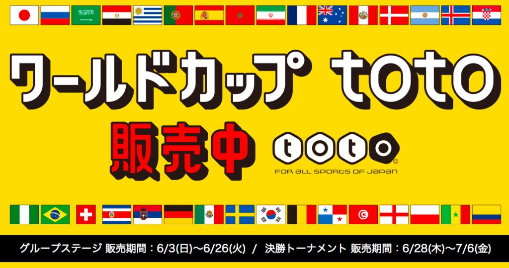 【テレビ観戦がより楽しくなる!】ワールドカップtotoが販売開始・totoの買い方のアイキャッチ画像