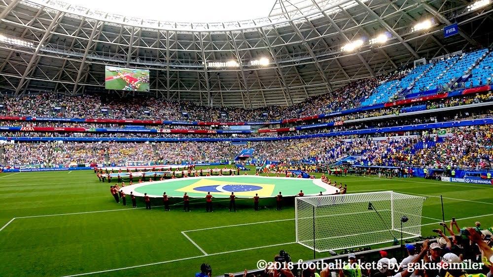 """【ロシアワールドカップ ベスト16 ブラジルvsメキシコ観戦記】熱狂的なサポーターを誇る両チームが""""灼熱""""のスタジアムで激突!のアイキャッチ画像"""