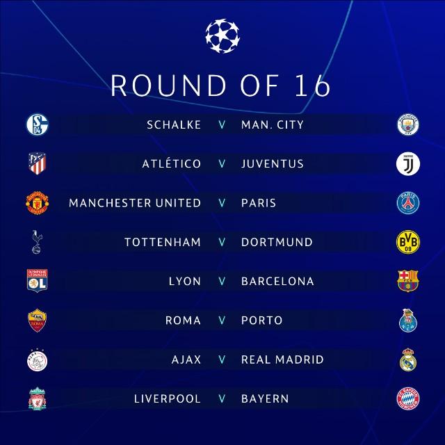 【2018-19】UEFAチャンピオンズリーグラウンド16対戦カード決定!CL初対戦のビッグカードも!?のアイキャッチ画像